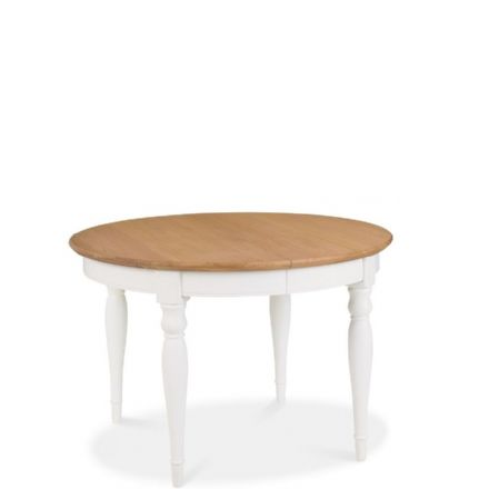 Hampstead Two Tone Round Extending Dining Table